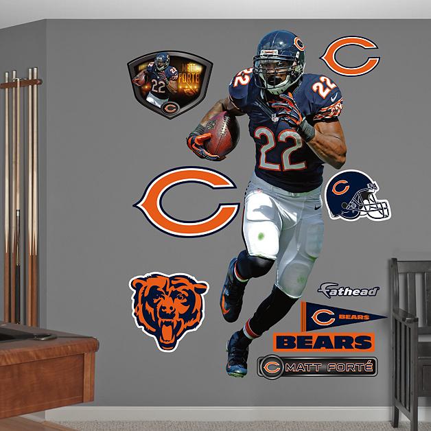 Chicago Bears Home Decor: Life-Size Matt Forte - Home Wall Decal