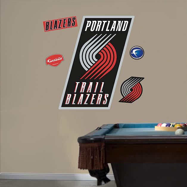 Blazers Portland Posters: Portland Trail Blazers Logo Wall Decal