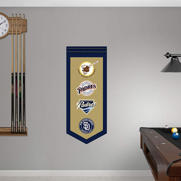 Home Decor Stores San Diego: San Diego Padres Logo Evolution Banner Fathead Wall Decal