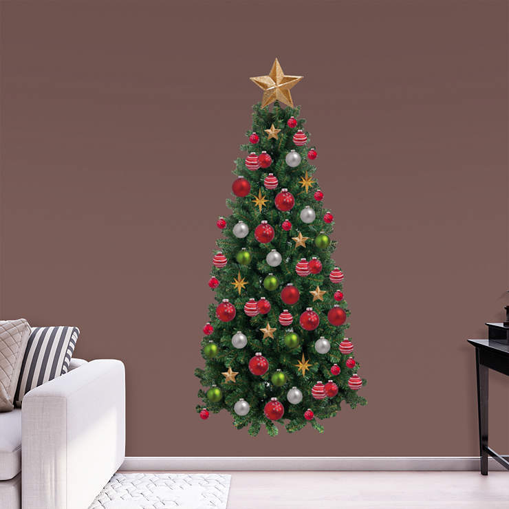 Christmas Tree Wall Decal Shop Fathead For Christmas Decor
