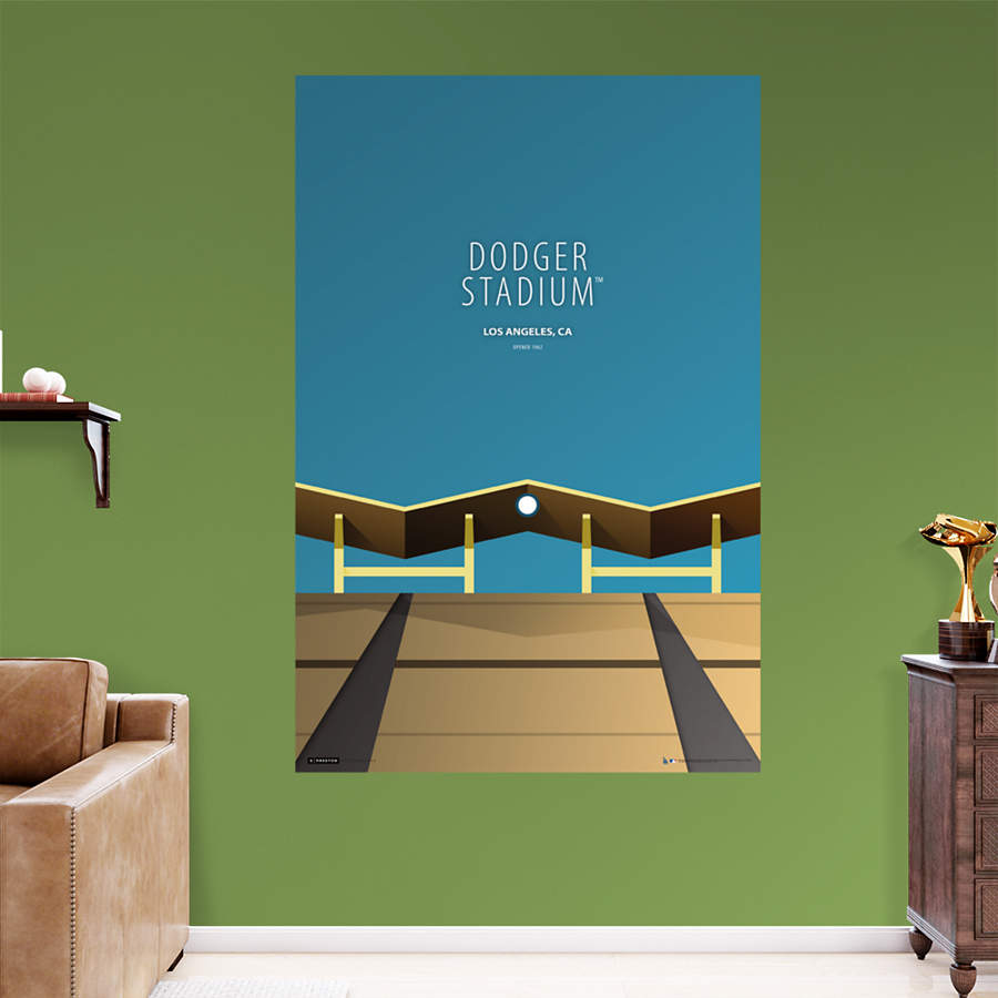 Dodger stadium minimalist art mural wall decal shop for Dodger stadium wall mural