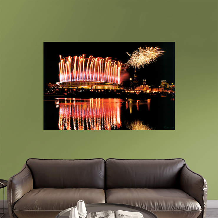 Soldier field fireworks mural wall decal shop fathead for Chicago wall mural
