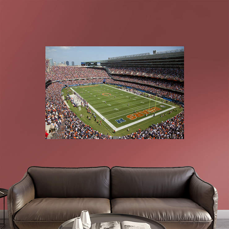 Inside soldier field mural wall decal shop fathead for for Chicago wall mural