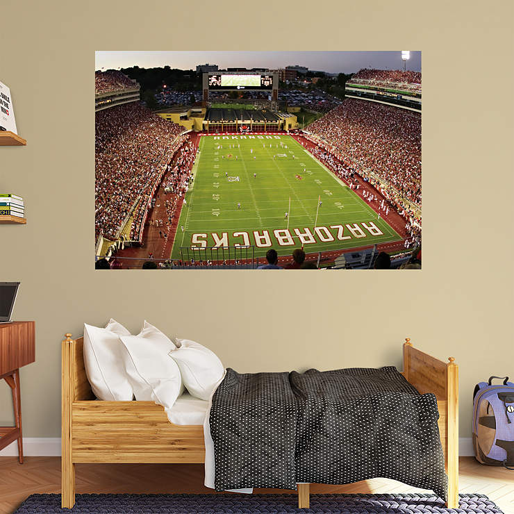 Razorback Classroom Decor : Arkansas razorbacks razorback stadium mural wall decal