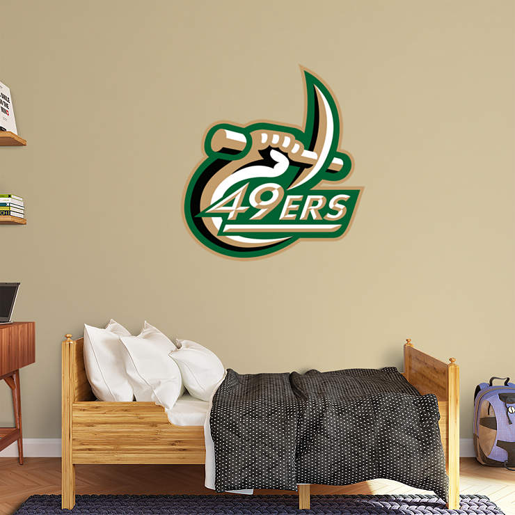 Charlotte 49ers logo wall decal shop fathead for unc for 49ers wall mural