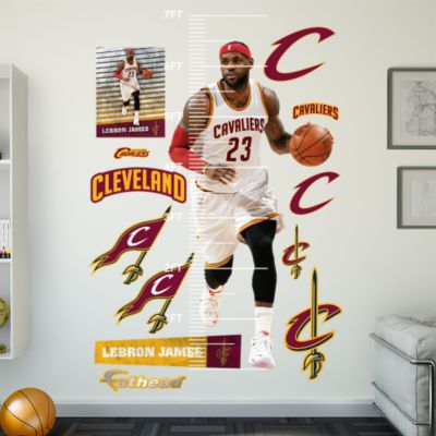 LeBron James Two Handed Dunk Fathead Wall Mural