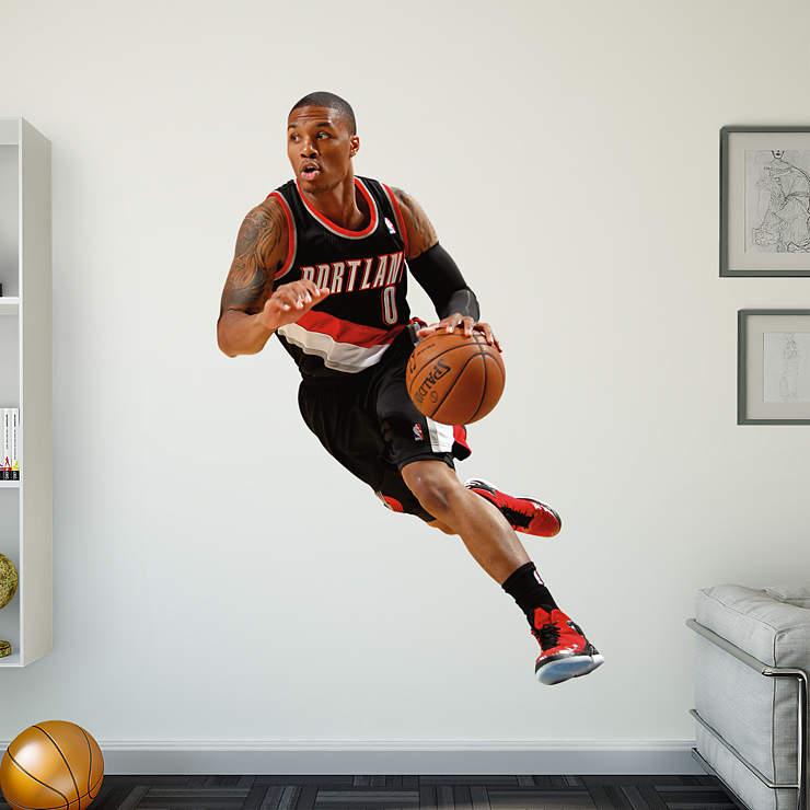 Portland Blazers Roster 2012: Life-Size Damian Lillard Wall Decal