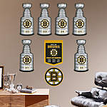 Boston bruins stanley cup collection wall decal shop Bruins room decor