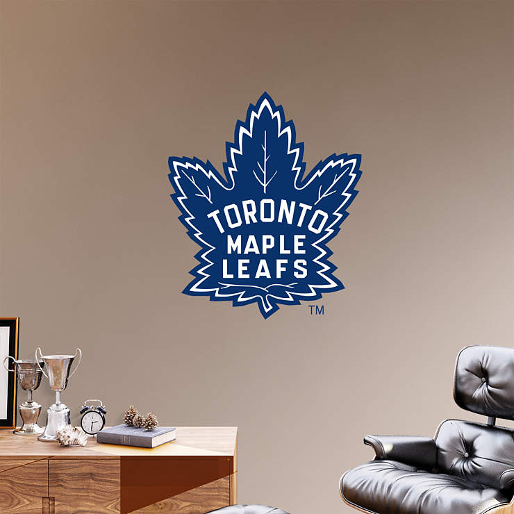 Up Classroom Decor ~ Toronto maple leafs vintage logo wall decal shop fathead
