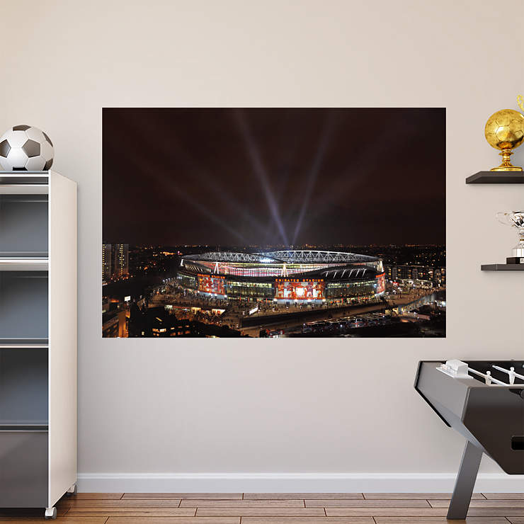 Night sky emirates stadium mural wall decal shop fathead for Arsenal mural emirates