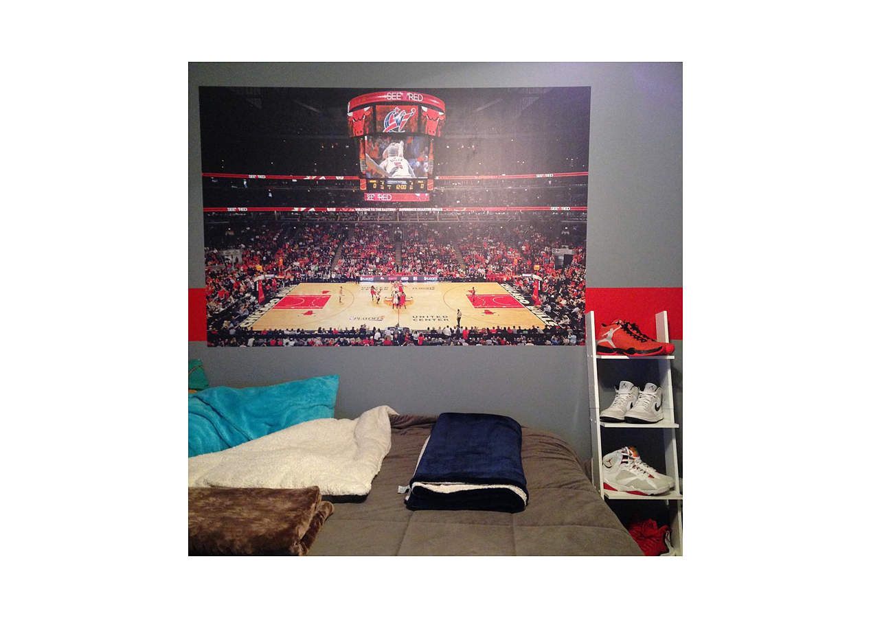 Chicago Bulls Arena Mural Wall Decal Shop Fathead 174 For