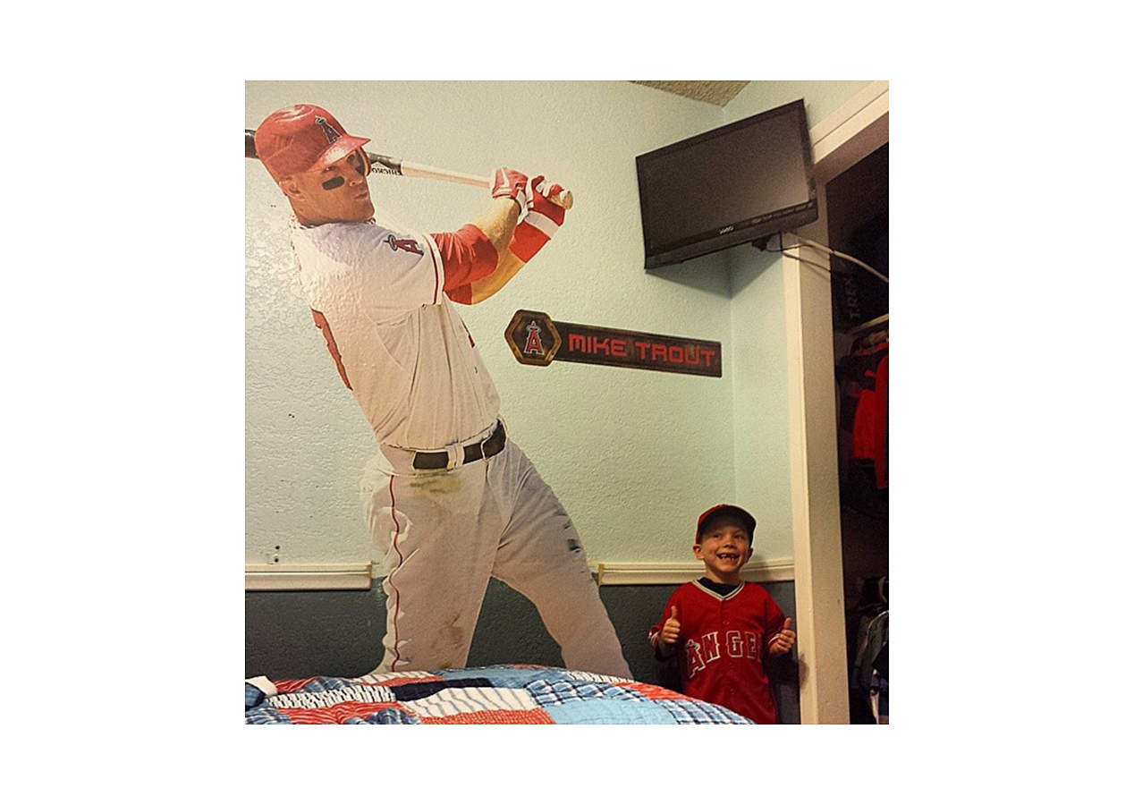 Life-Size Mike Trout Wall Decal | Shop Fathead® for LA ...