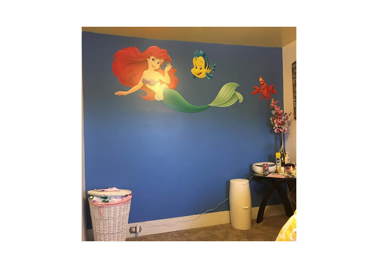 The little mermaid collection wall decal shop fathead for Disney princess wall mural tesco