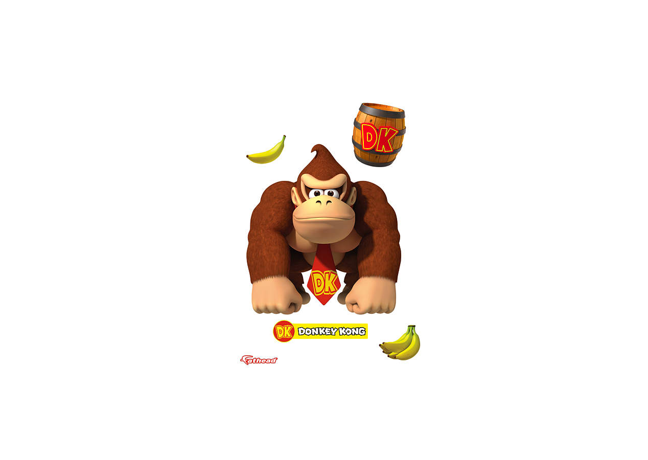 Donkey Kong Wall Decal Shop Fathead For Mario Decor