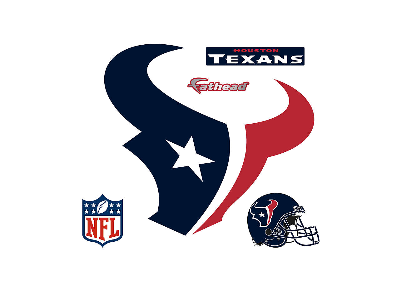 Houston texans logo wall decal shop fathead for houston for Houston texans logo template