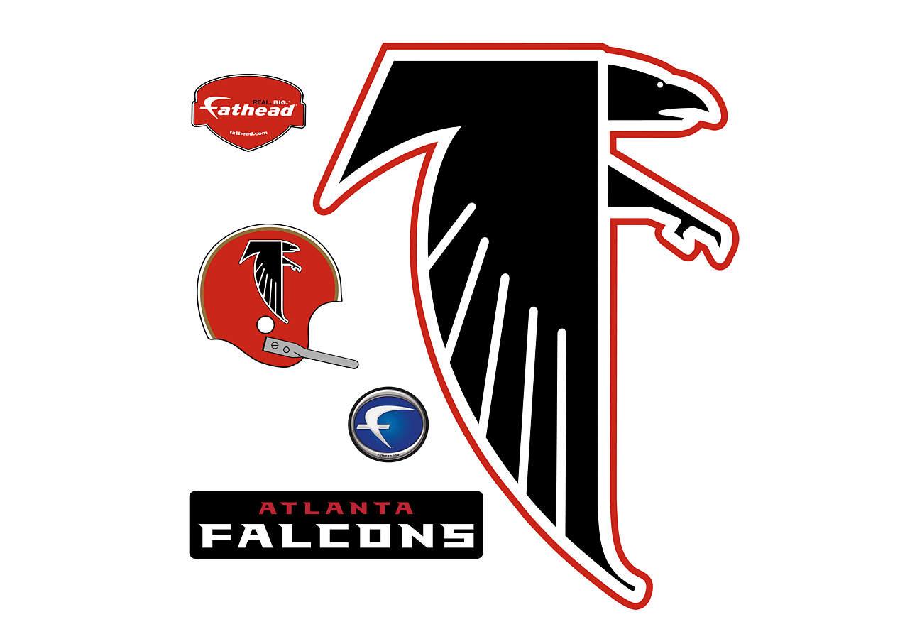 Images Of The Atlanta Falcons Football Logos: Atlanta Falcons Classic Logo Wall Decal