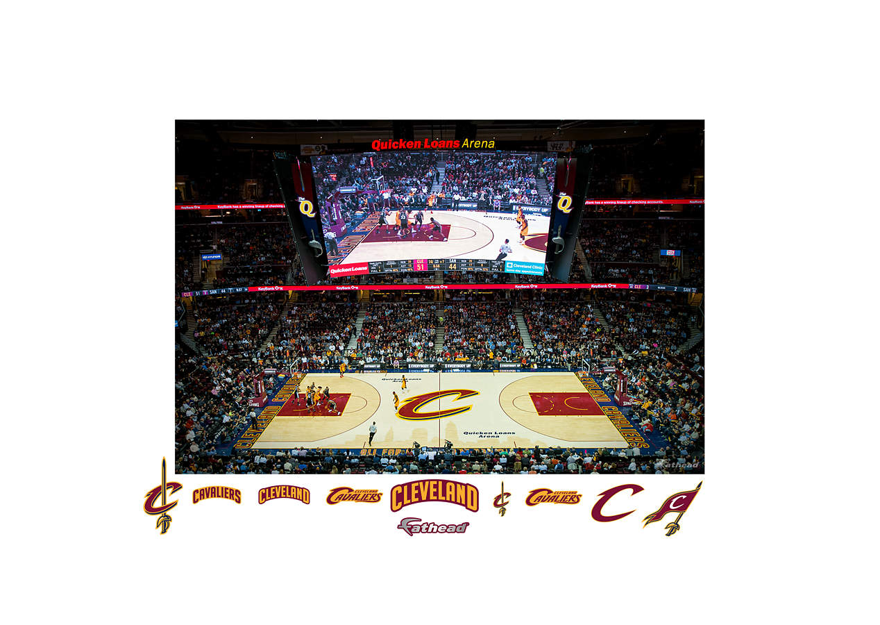 Cleveland Cavaliers Quicken Loans Arena Mural Wall Decal