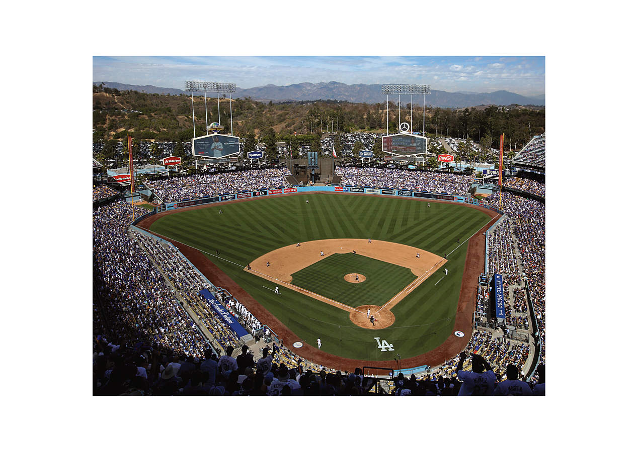 Los angeles dodgers stadium mural wall decal shop for Dodger stadium wall mural