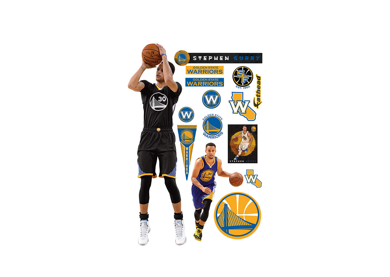 Life Size Stephen Curry Shot Wall Decal Shop Fathead