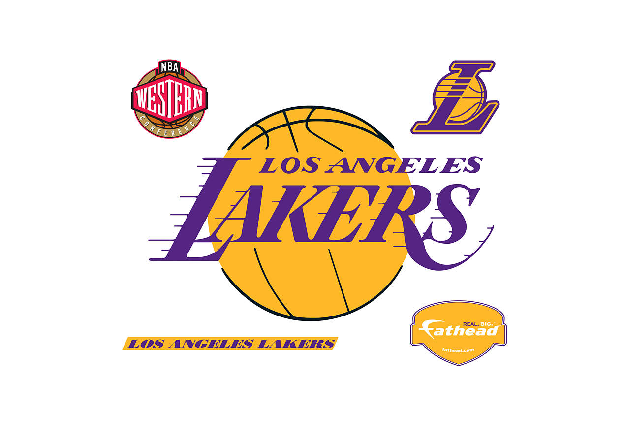 Los Angeles Lakers Logo Wall Decal | Shop Fathead® for Los ...