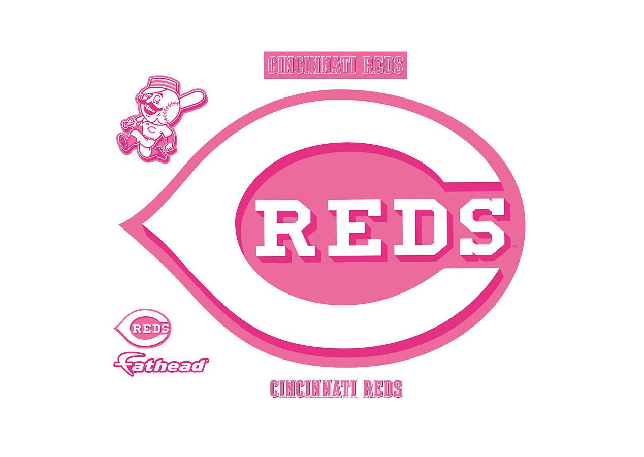 Cincinnati Reds Pink Logo Wall Decal Shop Fathead For