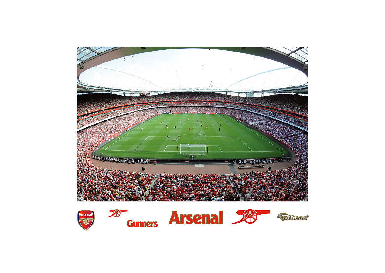 Arsenal emirates stadium mural wall decal shop fathead for Emirates stadium mural