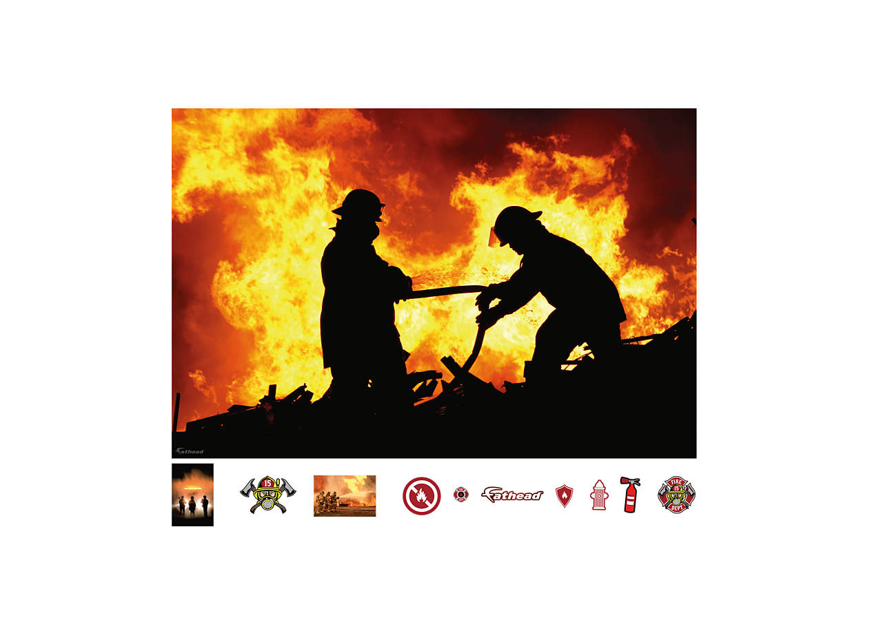 Firefighter Mural Wall Decal Shop Fathead 174 For Police