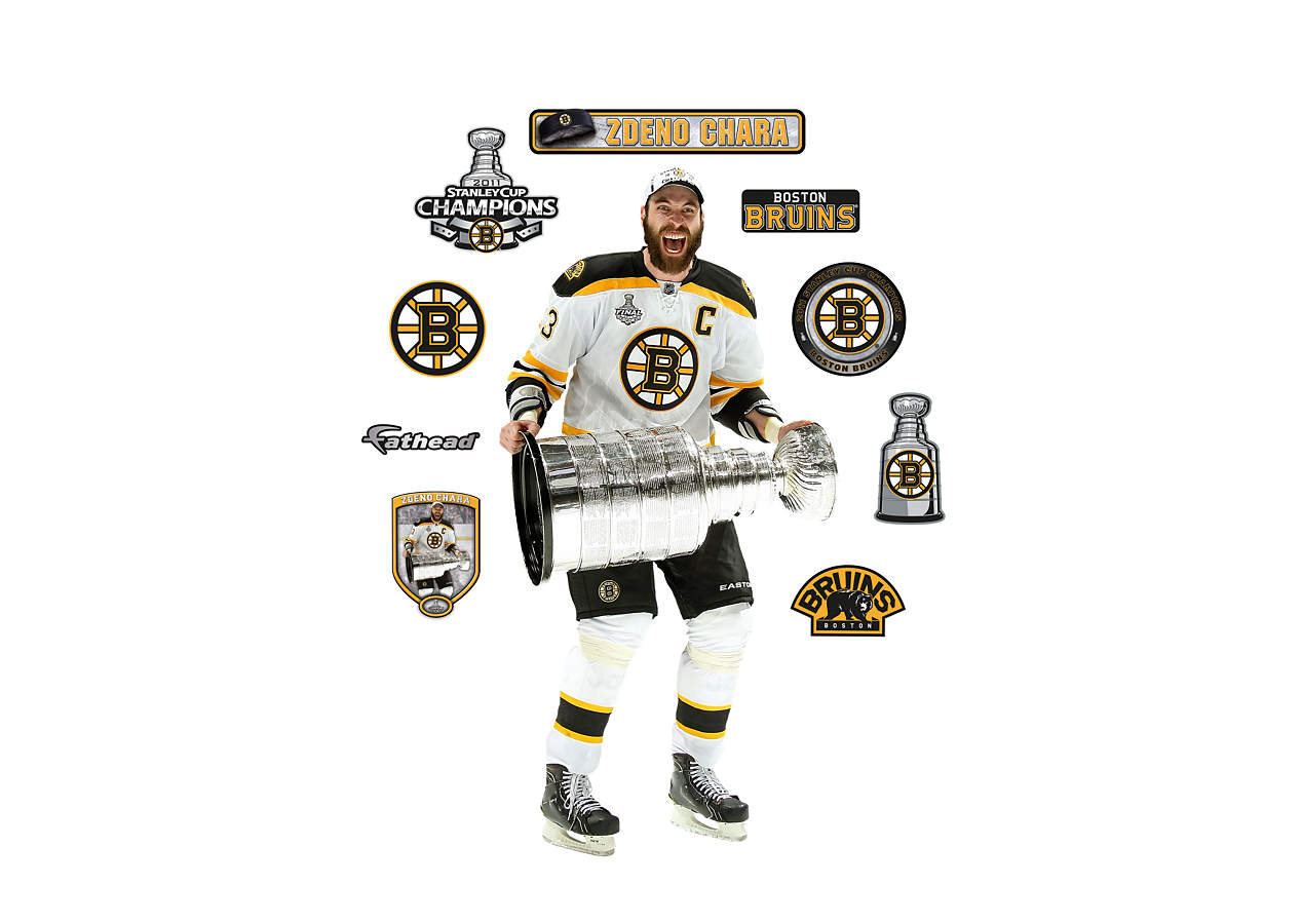 Life size zdeno chara stanley cup wall decal shop for Bruins bedroom ideas