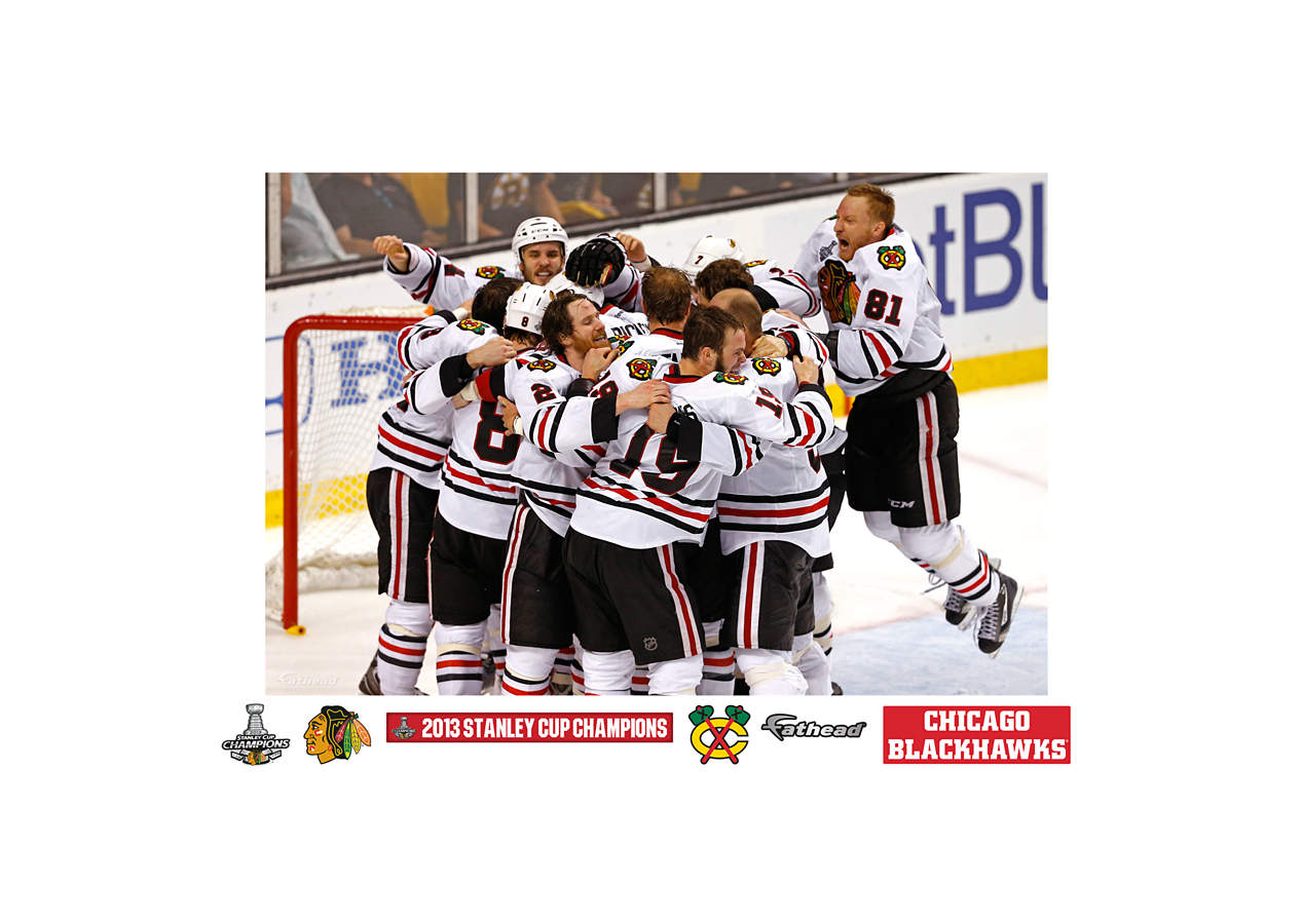 Chicago blackhawks 2013 stanley cup celebration mural wall for Blackhawks mural chicago