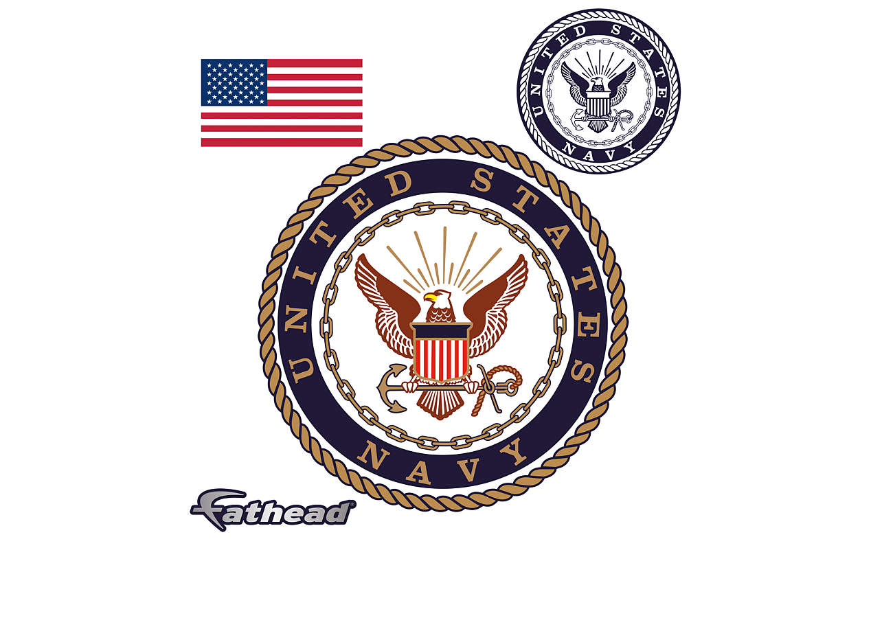 united states navy seal wall decal shop fathead for navy decor. Black Bedroom Furniture Sets. Home Design Ideas