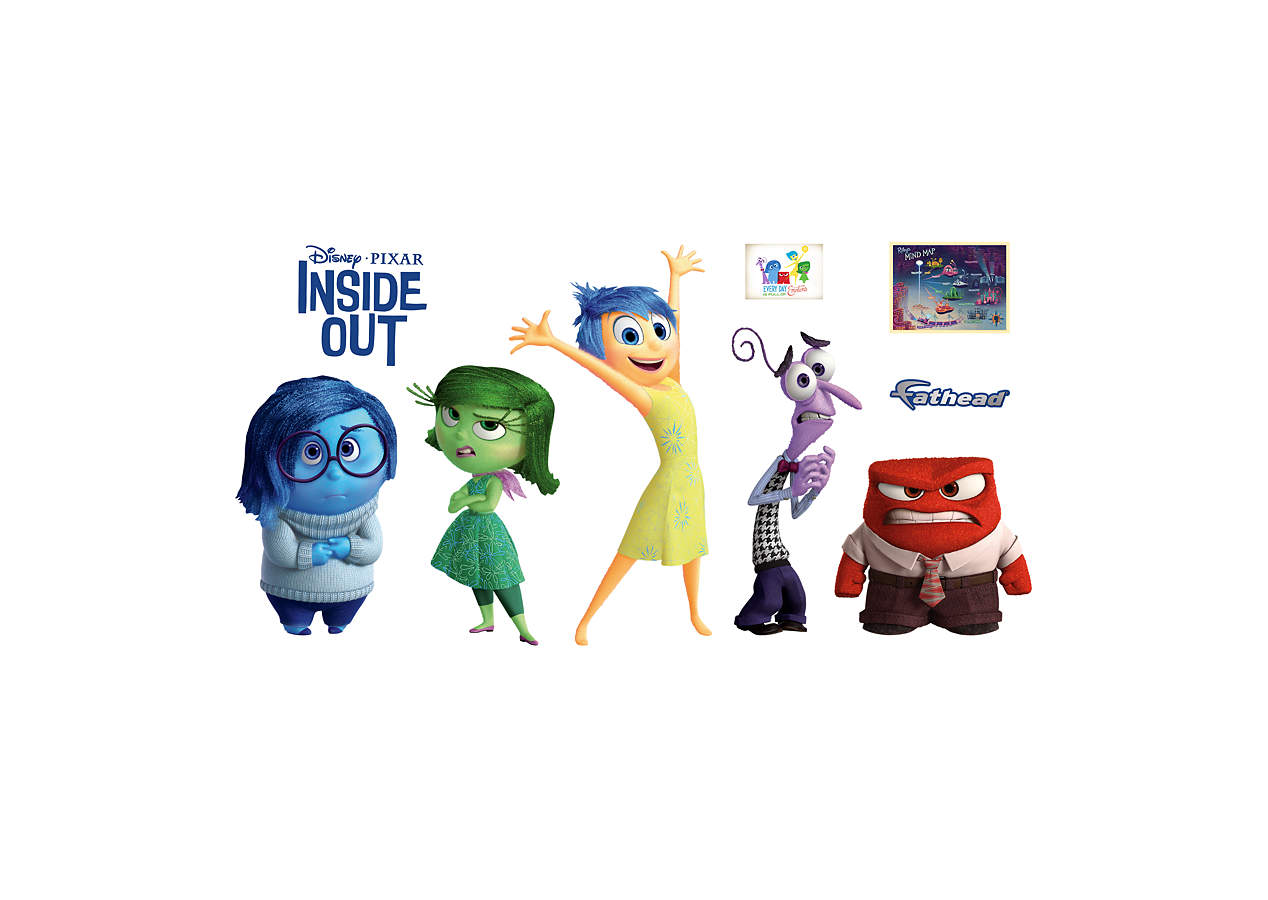 inside out collection wall decal shop fathead for inside out decor. Black Bedroom Furniture Sets. Home Design Ideas