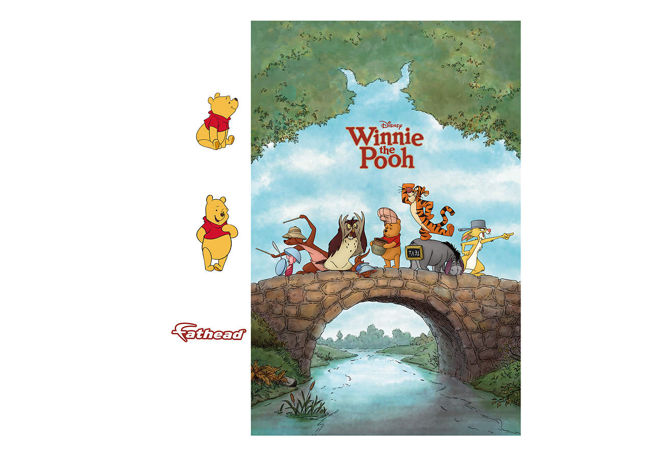 winnie the pooh movie poster mural wall decal shop fathead for winnie the pooh decor. Black Bedroom Furniture Sets. Home Design Ideas