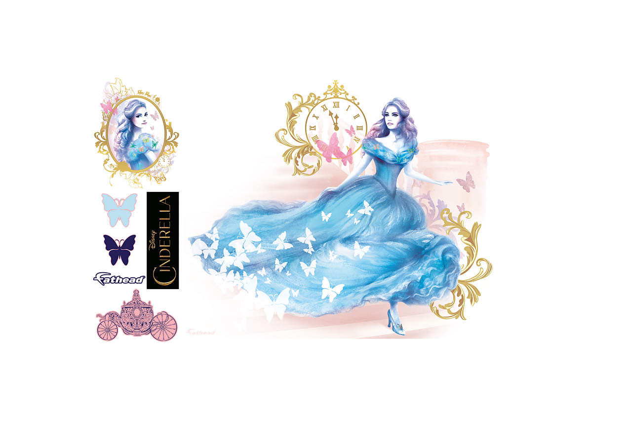 Cinderella movie mural wall decal shop fathead for for Cinderella wall mural