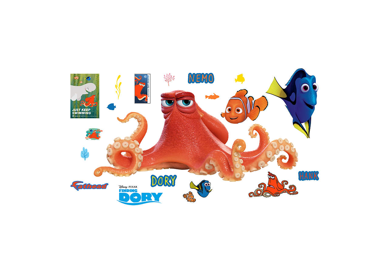 Hank finding dory wall decal shop fathead for finding for Finding dory wall decals