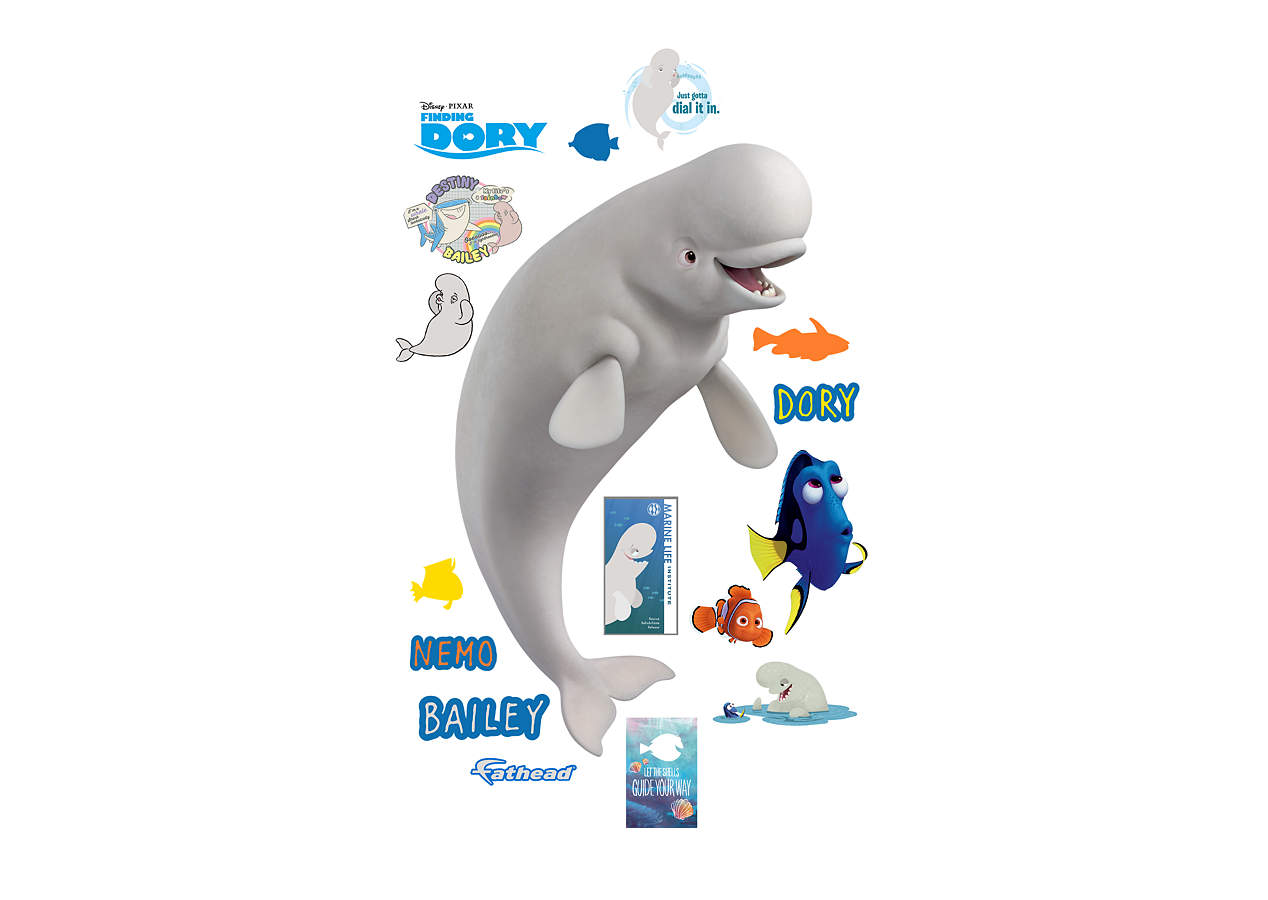 Bailey finding dory wall decal shop fathead for for Finding dory wall decals