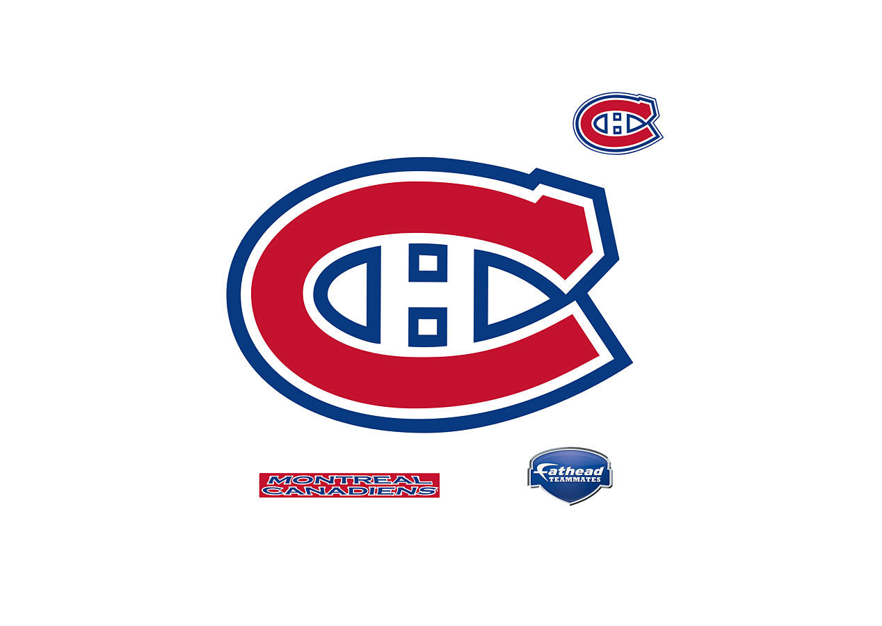 Small montreal canadiens teammate decal shop fathead - Montreal canadians logo ...
