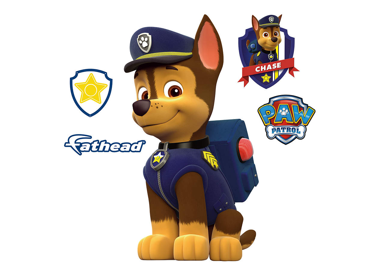 Small Chase Teammate Decal Shop Fathead 174 For Paw Patrol