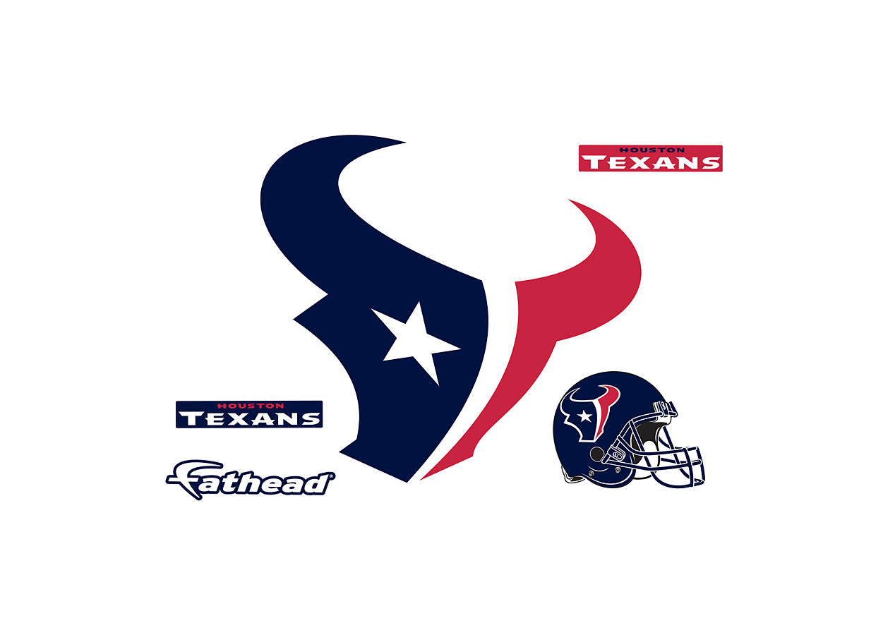 Small houston texans teammate logo decal shop fathead for Houston texans logo template
