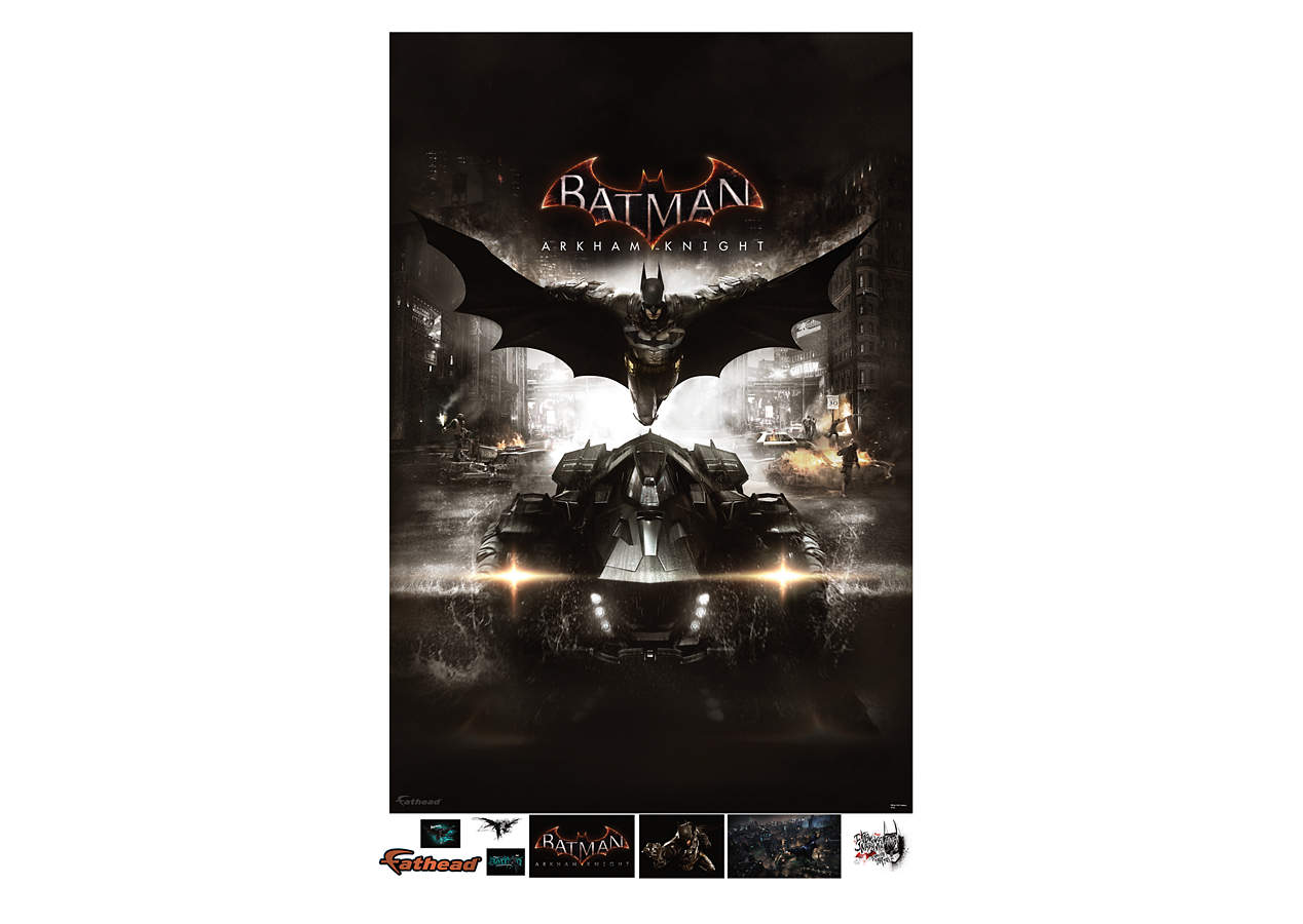 Batman arkham knight cover mural wall decal shop for Batman wall mural
