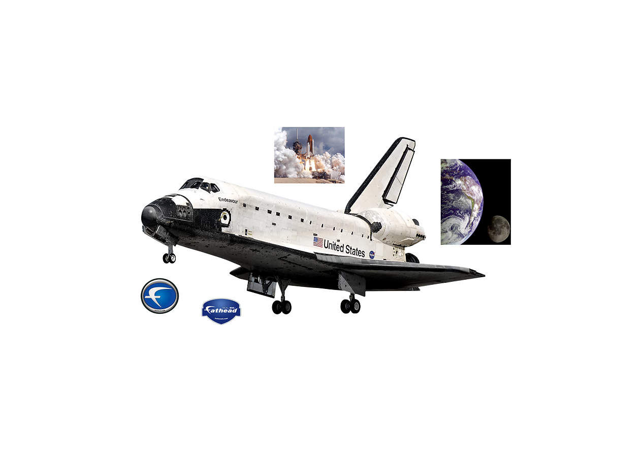 Space Shuttle Endeavor Wall Decal | Shop Fathead® for ...