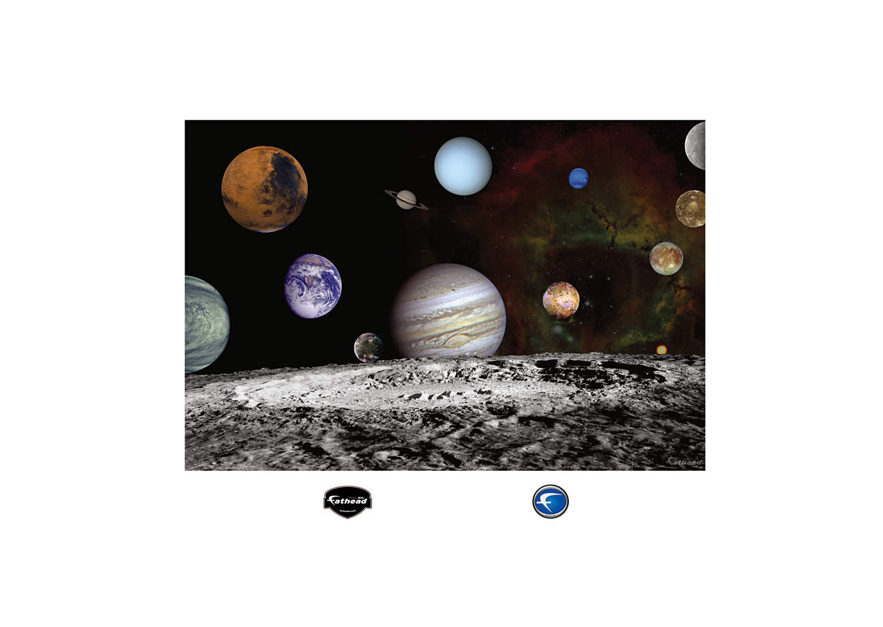 Life Size The Solar System Artist Concept Wall Decal
