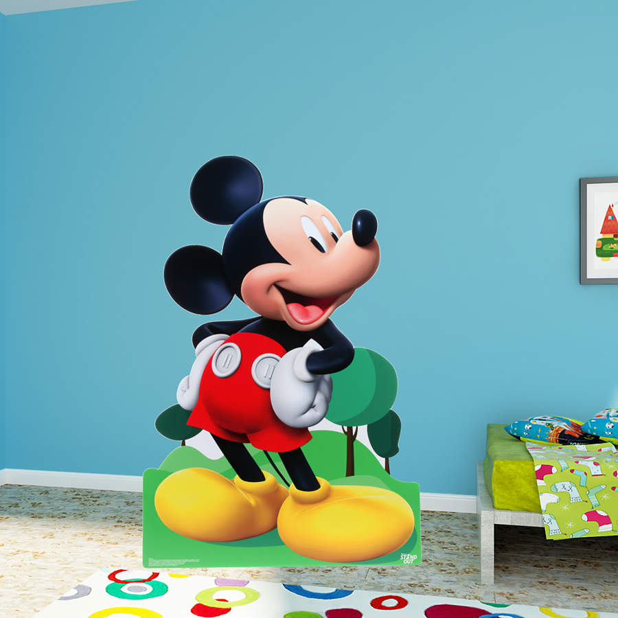 Mickey Mouse Life Size Stand Out Cut Out Shop Fathead