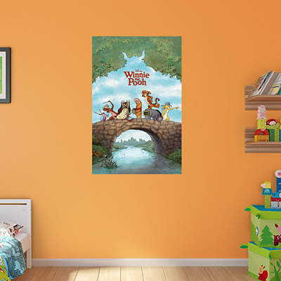 Shop winnie the pooh wall decals graphics fathead disney for Poster mural 4 murs