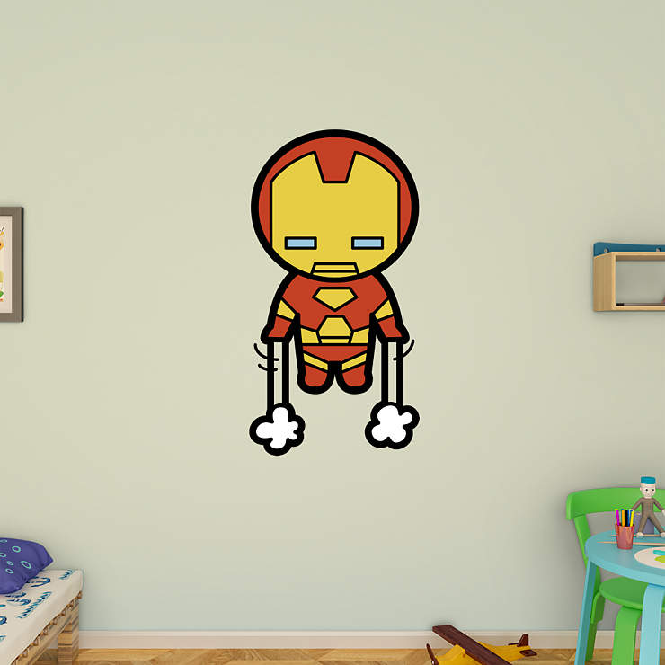 Kawaii Iron Man Wall Decal Shop Fathead 174 For Iron Man Decor