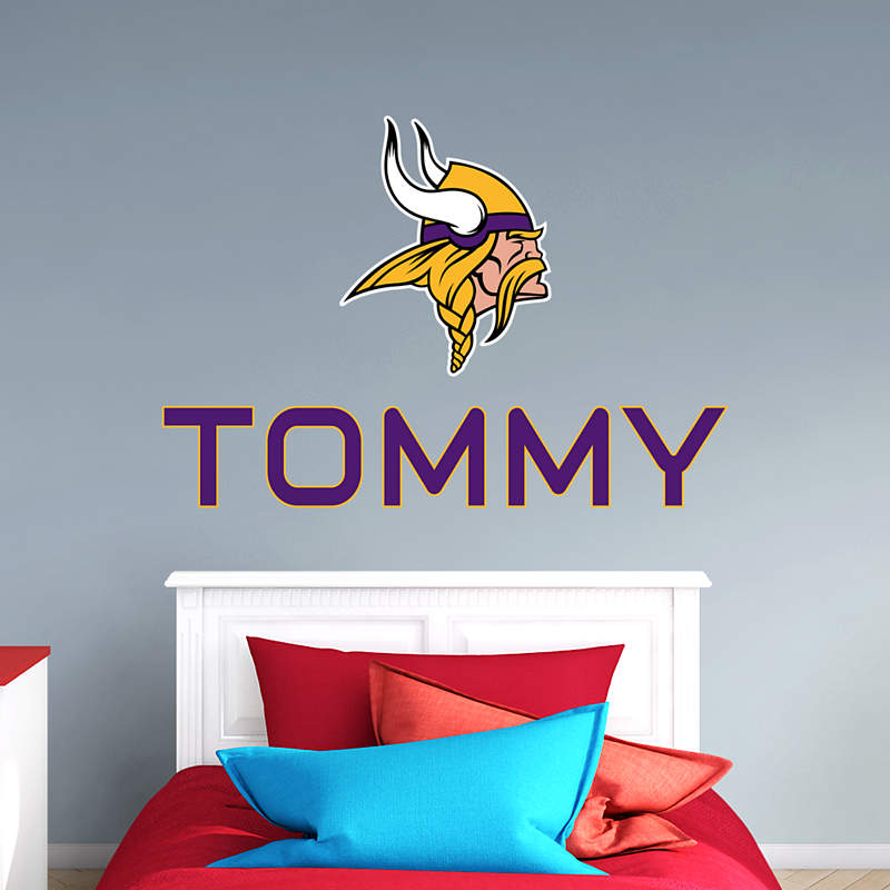 Minnesota Vikings Fathead Stacked Personalized Name
