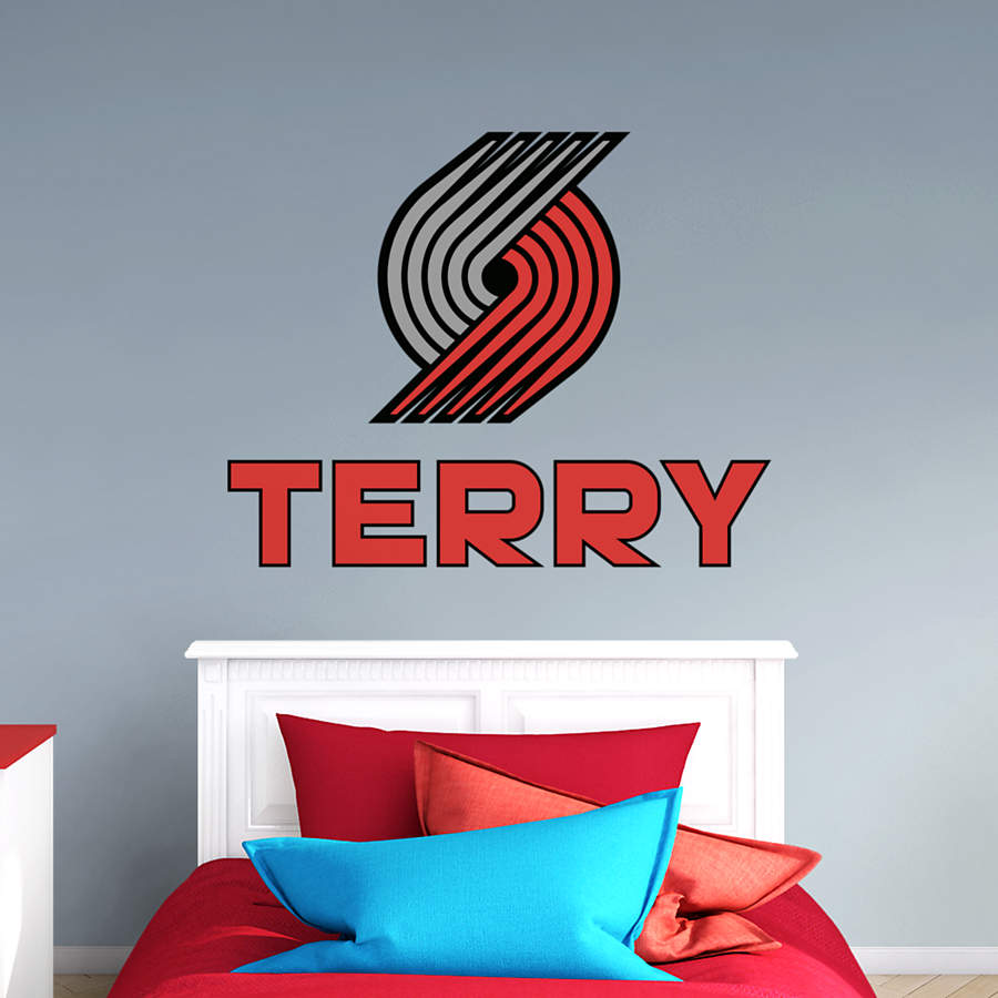 Portland Trail Blazers Stacked Personalized Name Wall