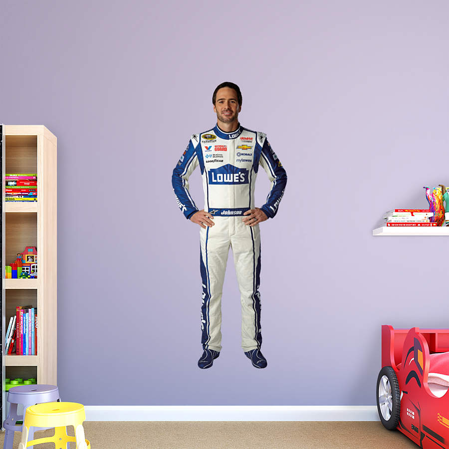 life size jimmie johnson lowe39s driver wall decal shop With kitchen cabinets lowes with life size wall stickers