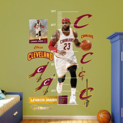 LeBron James - Gold Throwback Fathead Wall Decal