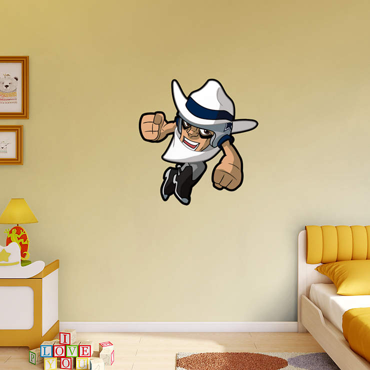 Dallas cowboys rusher wall decal shop fatheadr for for Dallas cowboys wall decals for kids rooms