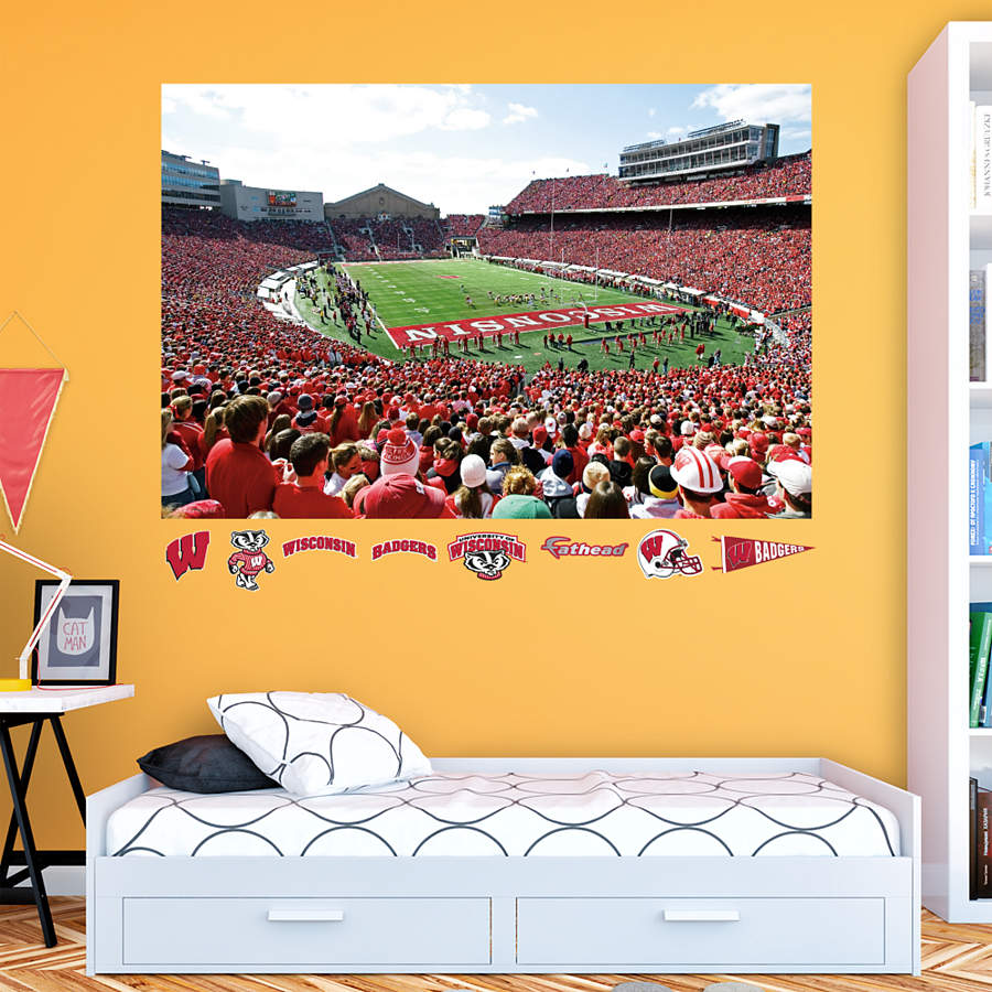 Wisconsin Badgers Camp Randall Stadium Mural Wall Decal Shop Fathead For Wisconsin Badgers